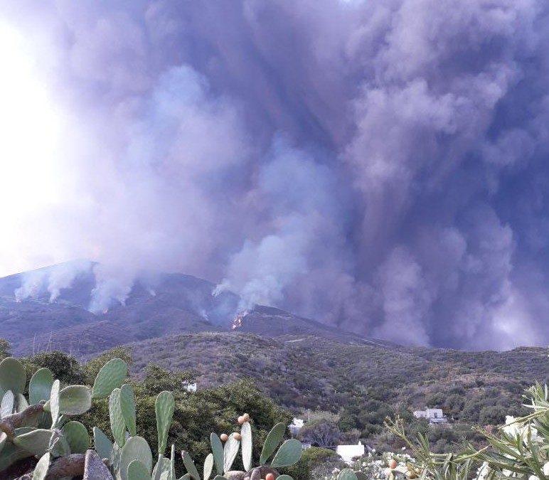 Nuova eruzione dello Stromboli