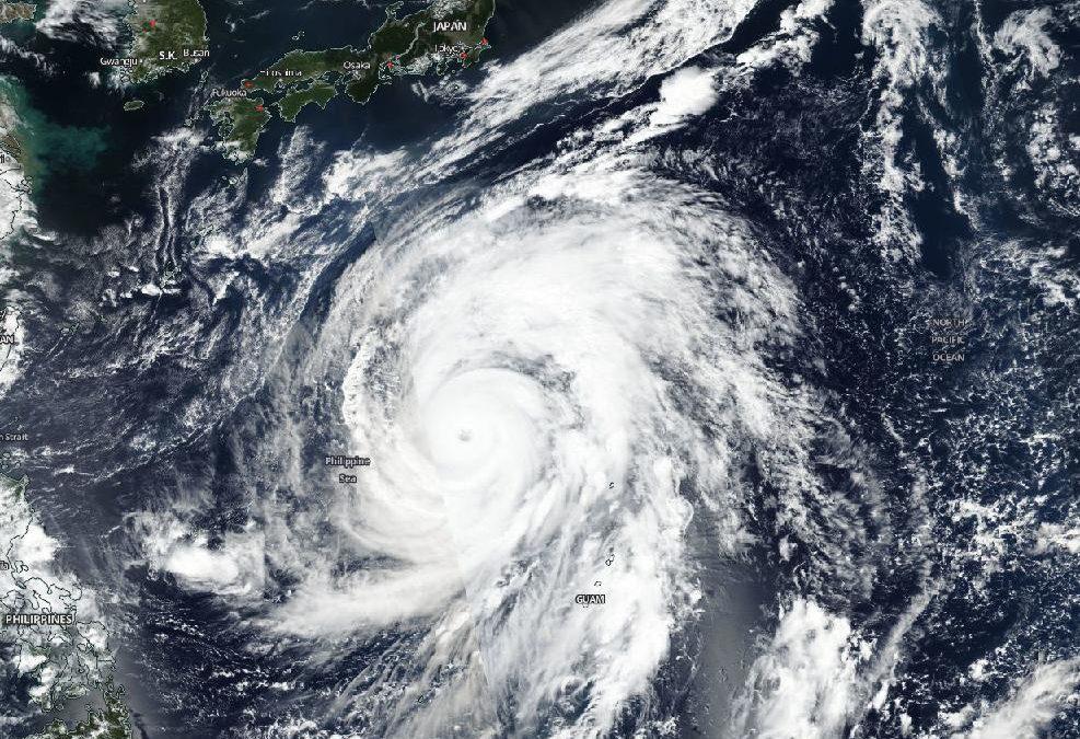 Il tifone Hagibis minaccia il Giappone